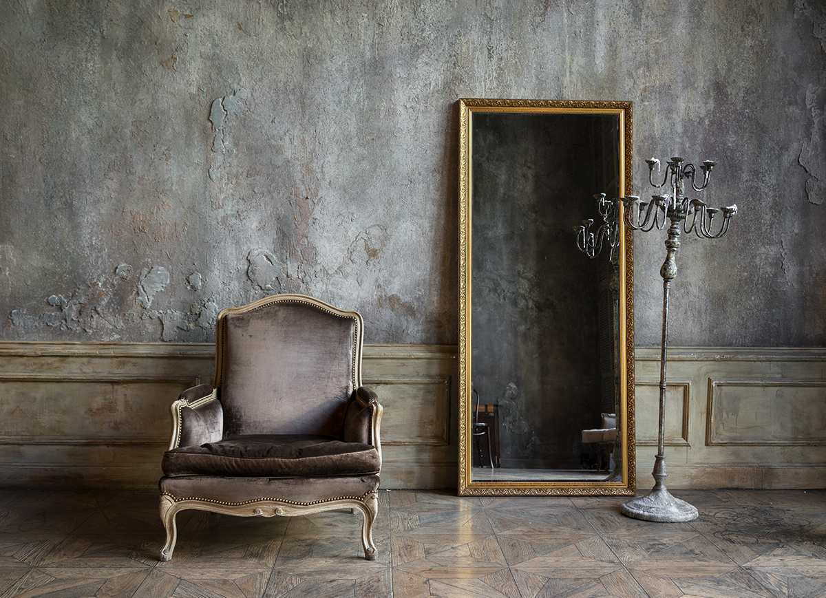 Mirror in living space