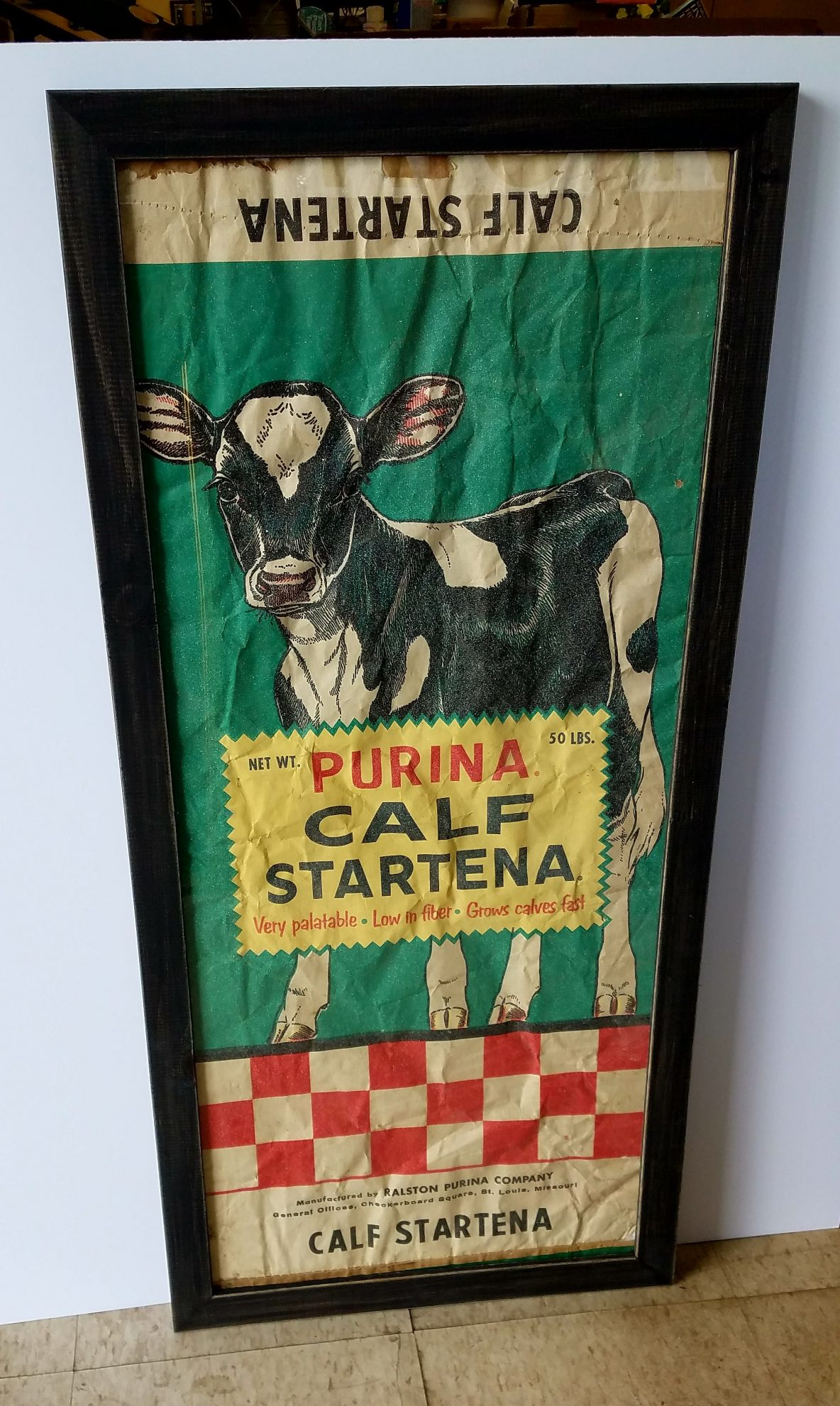 calf starter feed bag